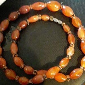 Jewelry - Amber/copper beads